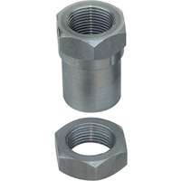 "1""- 14 Threaded Johnny Joint Bung w/ Jam Nut (RH)"