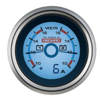 Redarc Dual Voltage Gauge G52-VVA