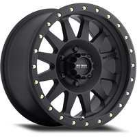 Double Standard, 18x9 with 5 on 150 Bolt Pattern - Black