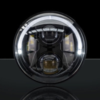 STEDI 7 Inch Carbon Black LED Headlight